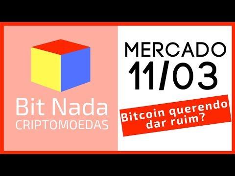 Mercado de Cripto! 11/03 Bitcoin querendo dar ruim! / Valor de mercado / ETH