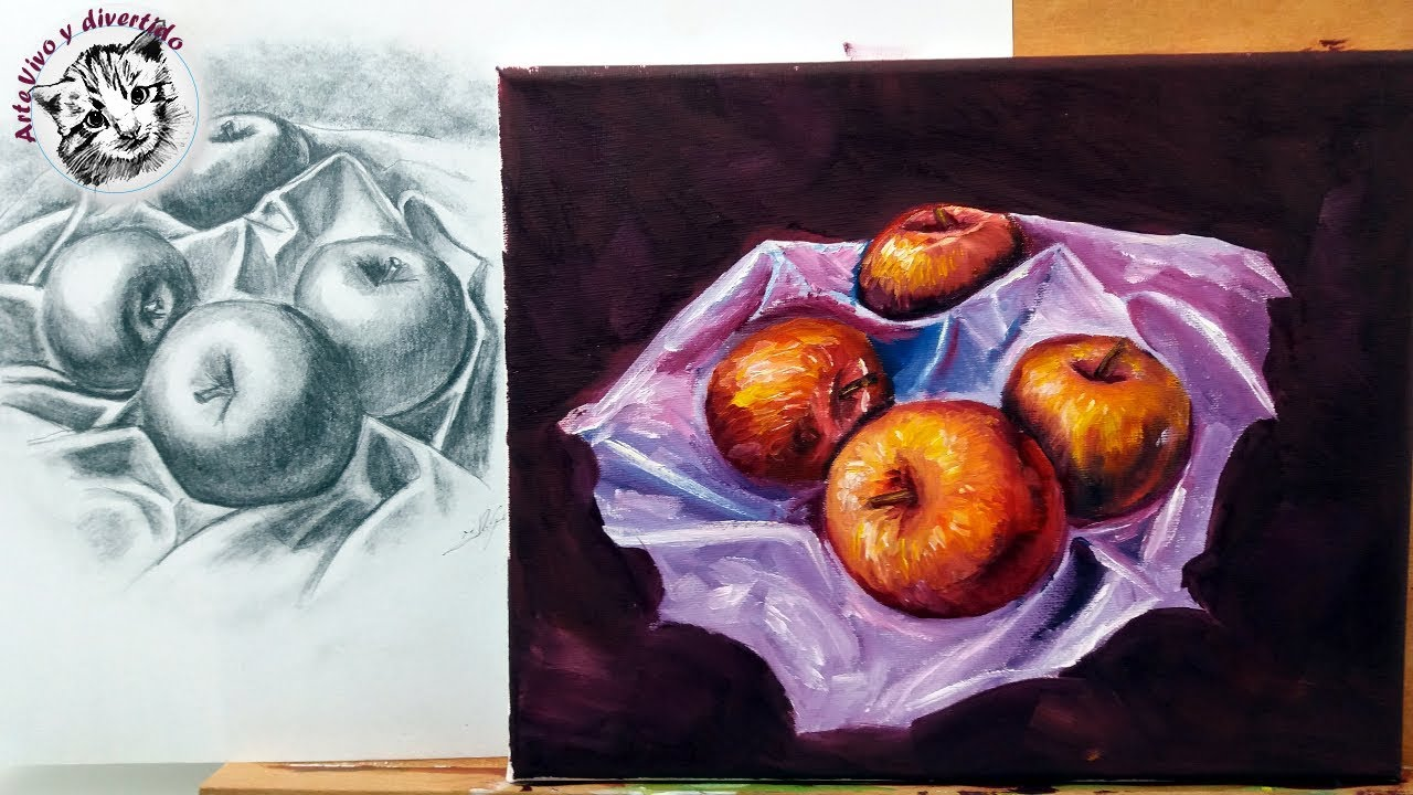 Pintura Al Oleo Paso A Paso Como Pintar Manzanas Realistas Al Oleo 1 2 Youtube