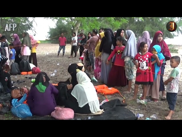 Rohingya refugee boat lands in Indonesia after 113-day journey; 81 survivors out of 90
