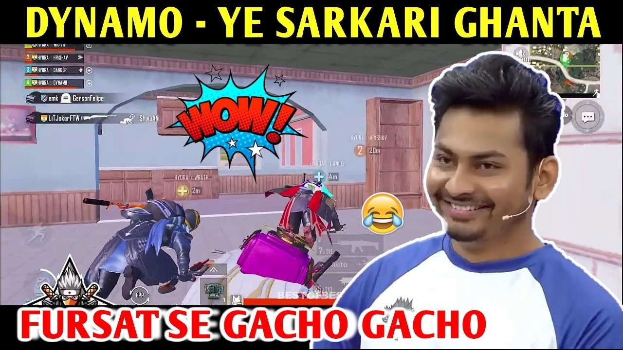 DYNAMO - DANGER SARKARI GHANTA | PUBG MOBILE | BEST OF BEST
