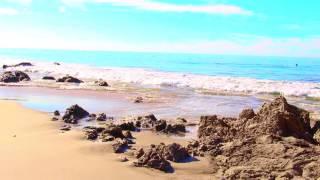 Relaxing Nature Music - Waves Crashing ~ Pacific Ocean ~ California Beach