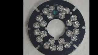 ИК подсветка(Инфракрасная подсветка (выносная) из подручных средств. Где была куплена: http://ru.aliexpress.com/item/24-LEDs-5mm-Infrared-90-Degrees-..., 2015-10-06T19:47:18.000Z)