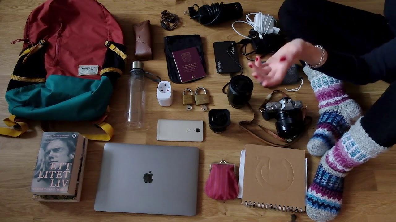 vad får man ha i resväskan