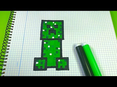 How To Draw Minecraft Creeper Pixel Art Tutorial