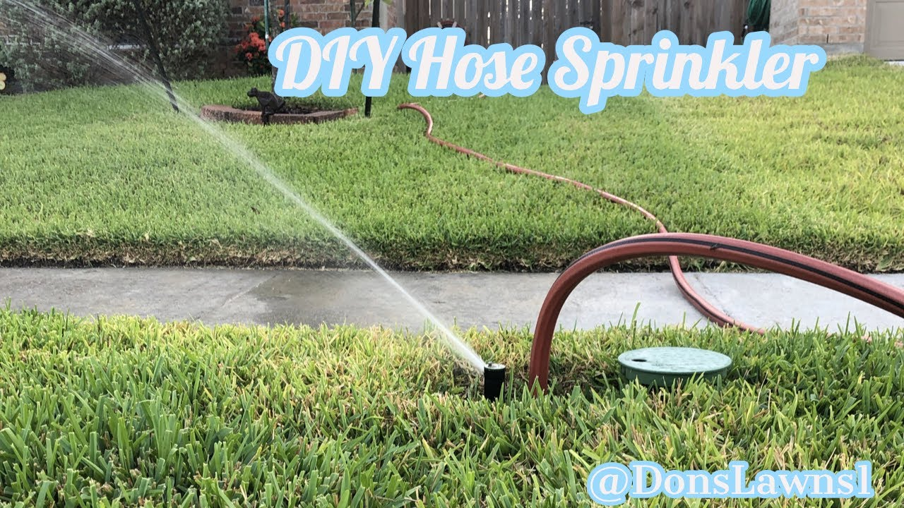 Easy Cheap Diy Quick Connect Sprinkler Youtube