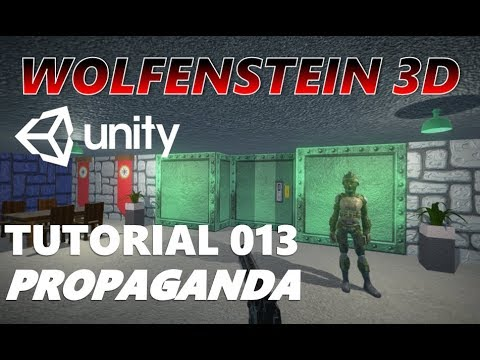 How To Make An FPS WOLFENSTEIN 3D Game Unity Tutorial 013 - FONTS | PROPAGANDA DESIGN thumbnail