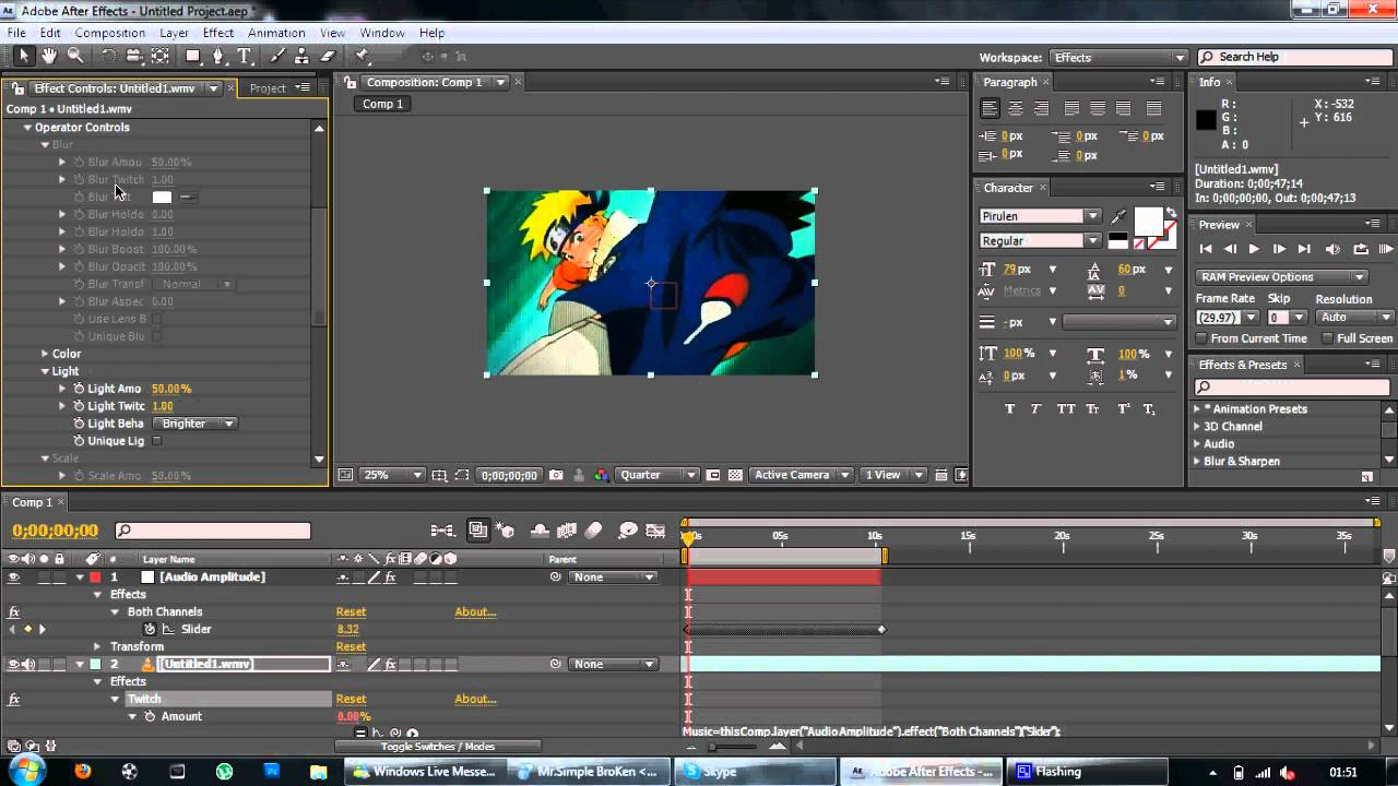 After Effects Amv Presets