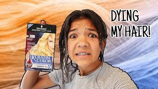 DYING my hair BLONDE! oh gosh!