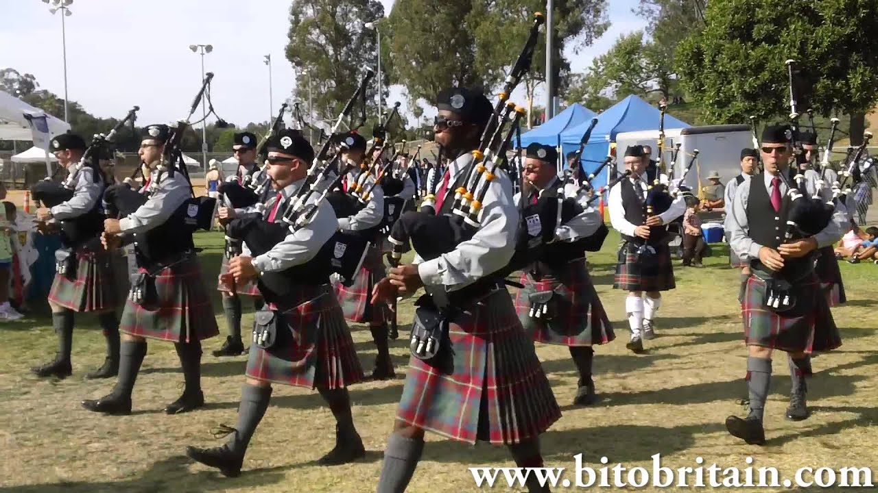 2013 San Diego Scottish Highland Games Bagpipe Amp Drums