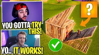 Tfue's *HILARIOUS* Attempt At Using My Fortnite Strats!
