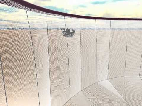 Simulation of ROV inside a net cage in waves using FhSim