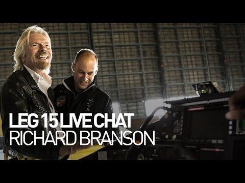 LEG 15 LIVE CHAT: Solar Impulse Airplane - Richard Branson