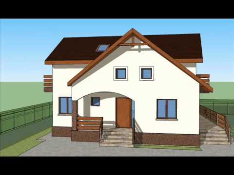 Casa ib 29 proiect casa cu mansarda bucuresti youtube for Youtube case cu mansarda