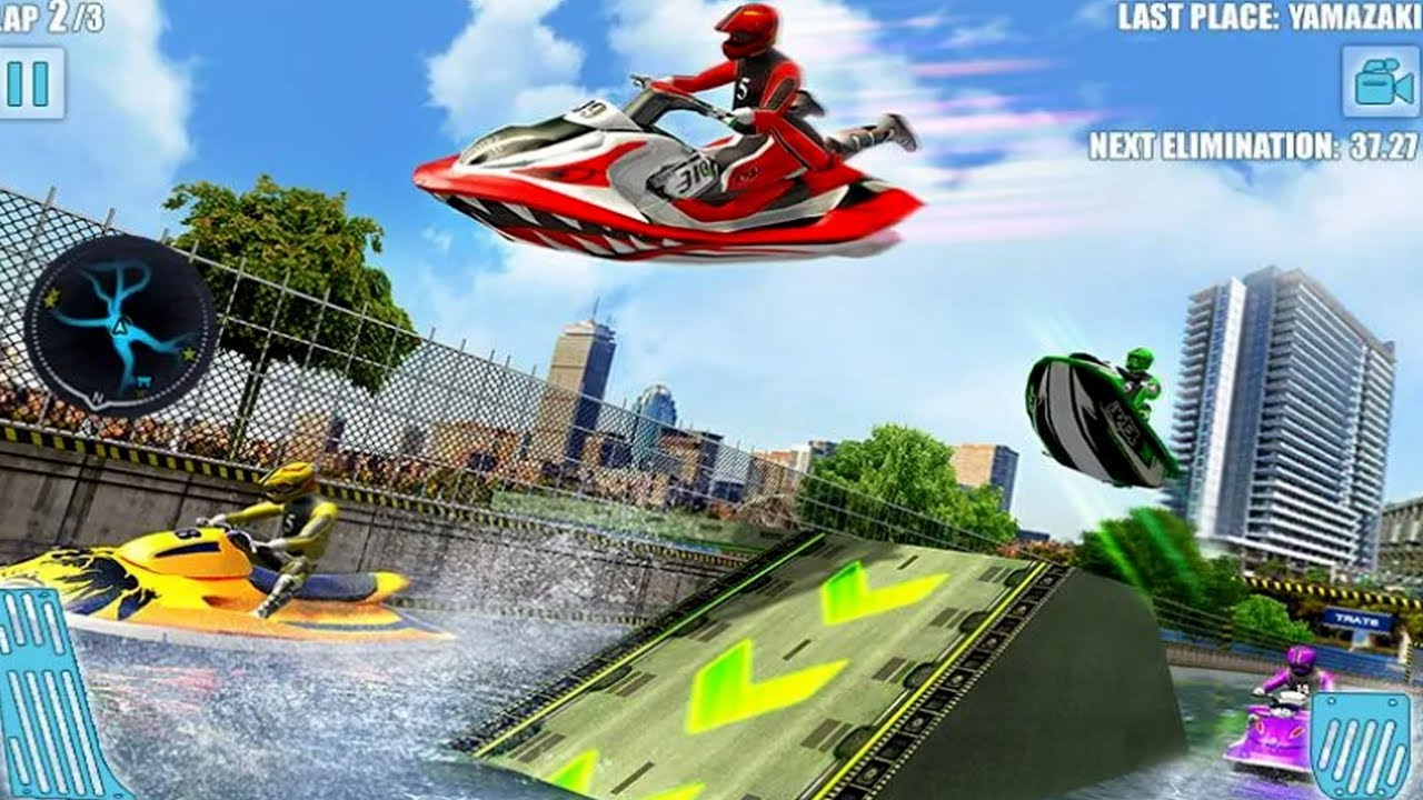Water Jet Ski Boat Racing 3d Android Gameplay Video Game