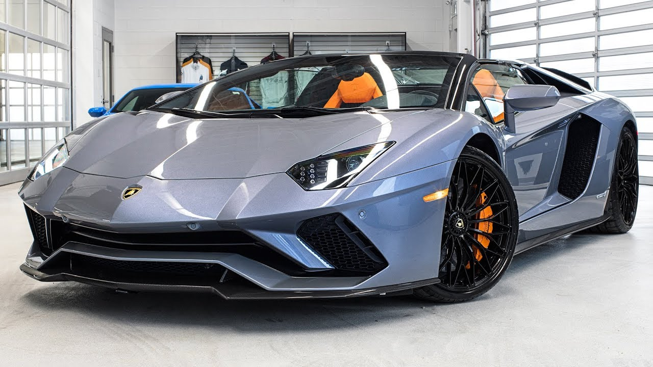 Delivery Of A 2018 Lamborghini Aventador S Lp740 4 Roadster In