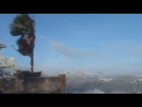 Hurricane Sandy hits the Caribbean