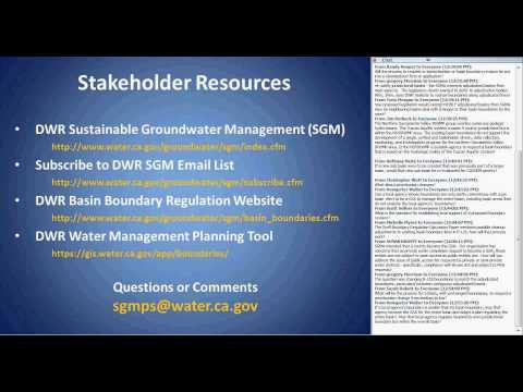 Public Listening Session Webinar  Basin Boundary Revision Emergency Regulations