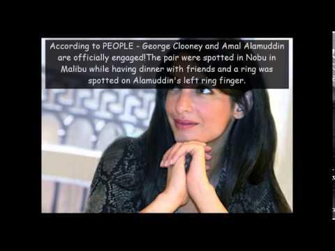 Amal Alamuddin Engaged...