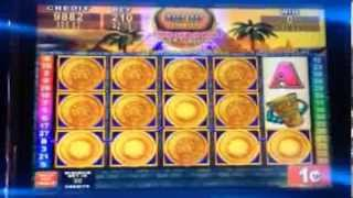 Konami- MAYAN CHIEF slot machine 550+ free spins BONUS BIG WIN