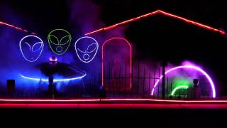 "2013 Halloween Light Show ""UFO Takeover - Flash"""