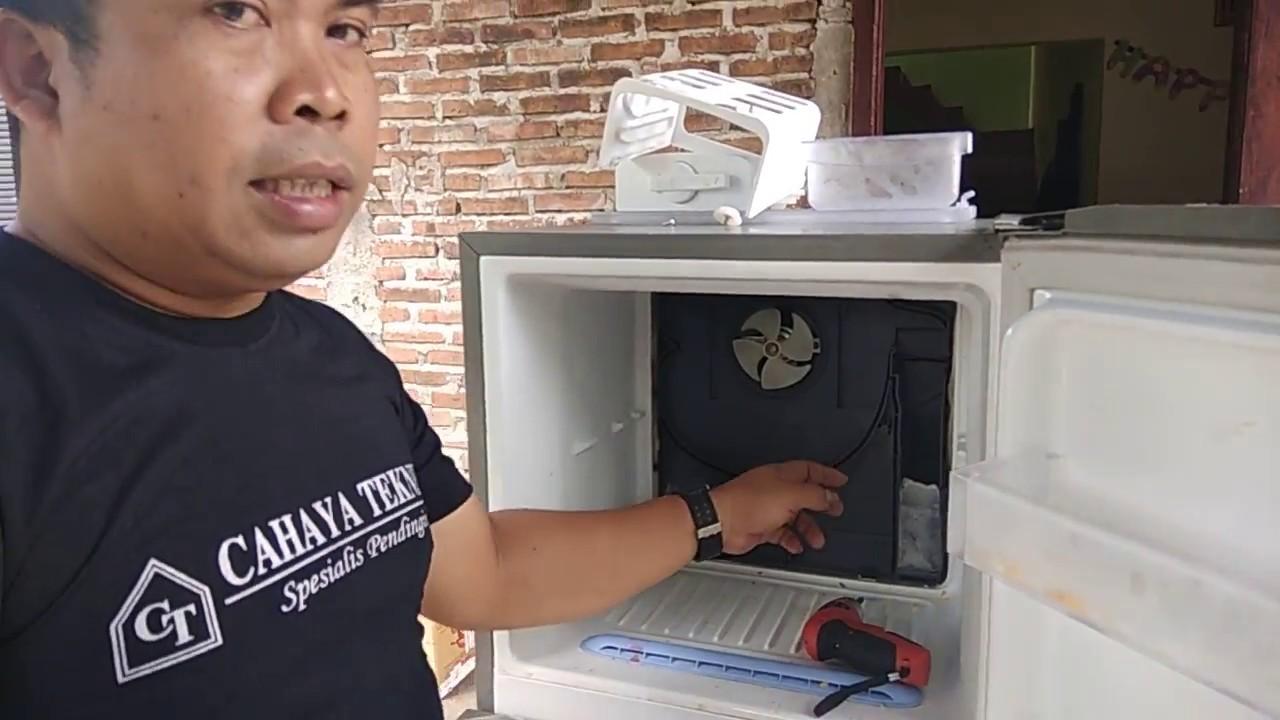 cara mudah memperbaiki kulkas 2 pintu lg tidak dingin