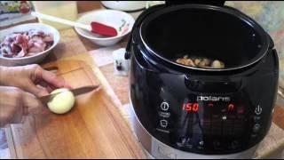 Вкусные видео рецепты - тушеные куриные желудки в мультиварке