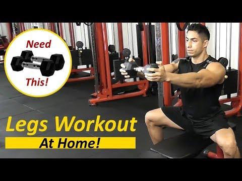 dumbbell leg workout  high intensity leg workout with