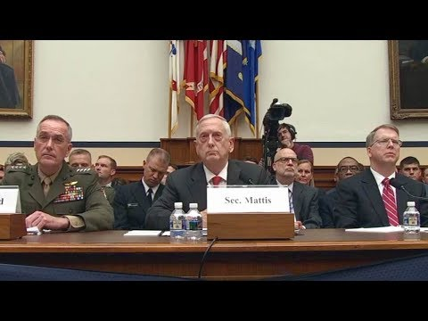 Sec. Mattis, Gen. Dunford testify on 2018 budget 06/12/17.