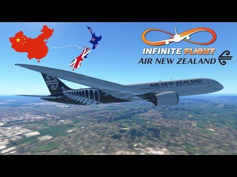 Infinite Flight GLOBAL: Shanghai (PVG) To Auckland (AKL) | TIMELAPSE | Air New Zealand | Boeing 787