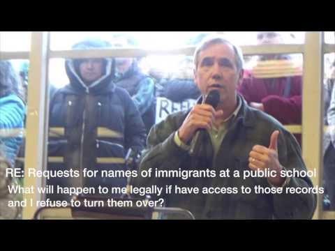 Education, immigrants - teachers refusing to turn records over, DeVos (Senator Jeff Merkley)