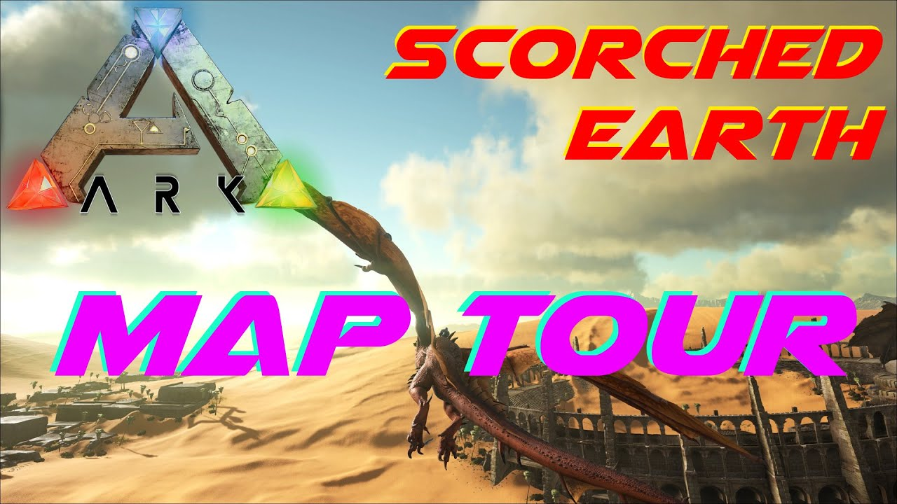 Scortched Earth Map.Map Tour Ark Scorched Earth Youtube