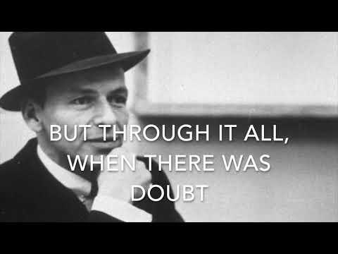 My way - Frank Sinatra - Karaoke original key