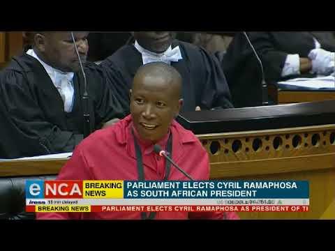 Julius Malema congratulates President Cyril Ramaphosa