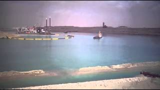 See the excavation and dredging in the new Suez Canal, March 26, 2015