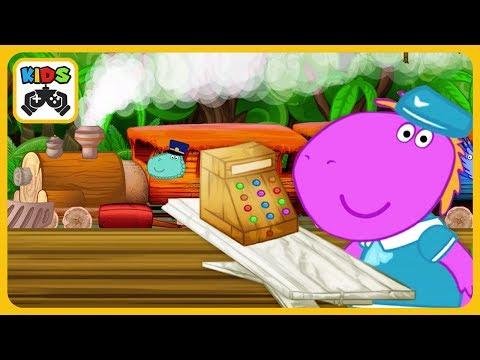 Поезд динозавров - Дино поезд * Мультик игра для детей про динозавров и паровозики