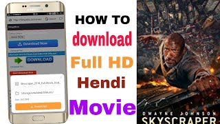 How to download skyscraper Hollywood Hindi dubbed movie
