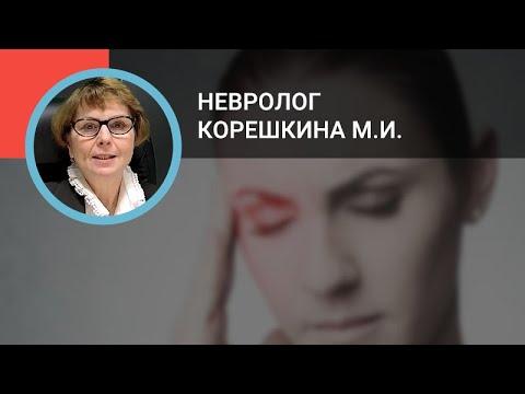 Невролог Корешкина М.И.: Кластерная головная боль