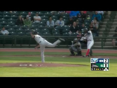Brendon Davis clubs a homer for the Loons