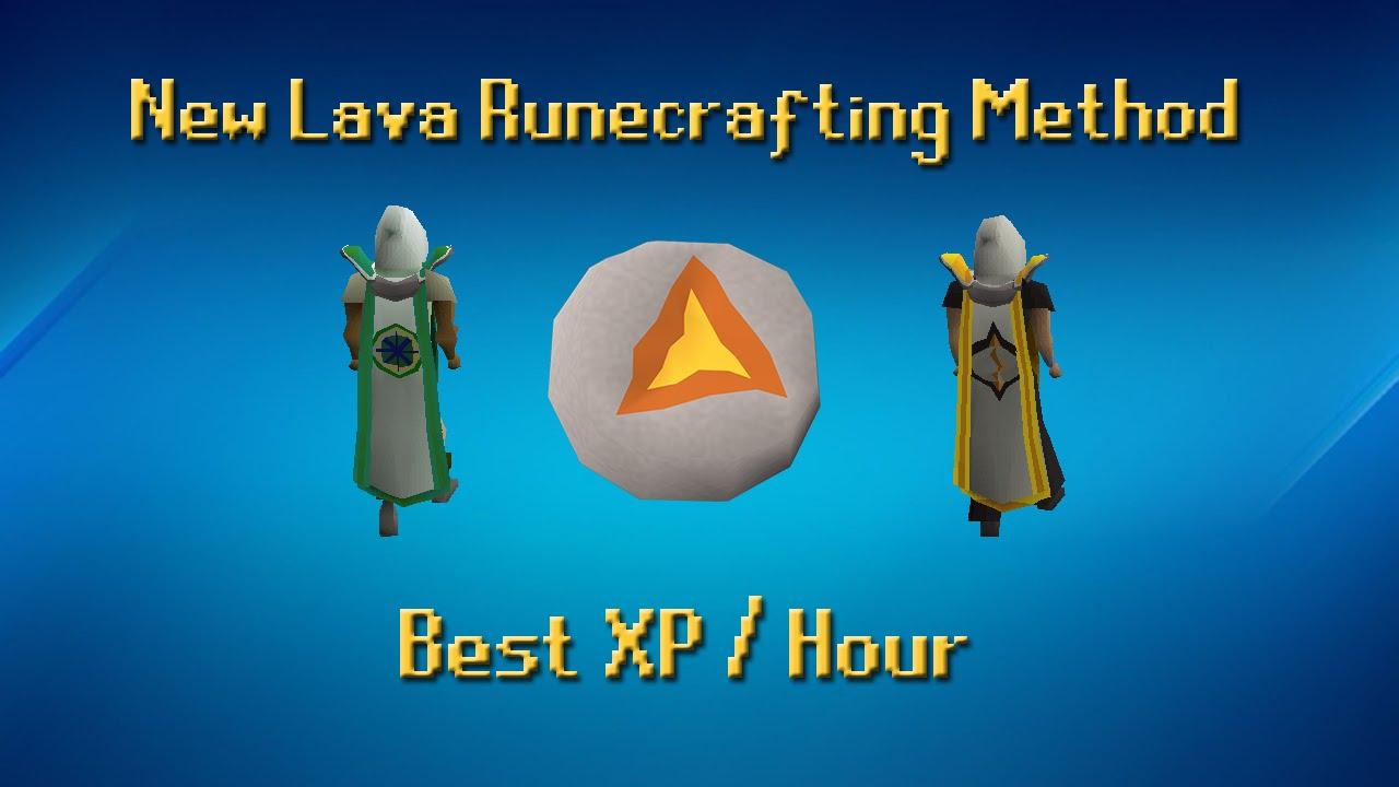New Lava Runecrafting Method ~65k XP/Hour with Kandarin Hard - OSRS