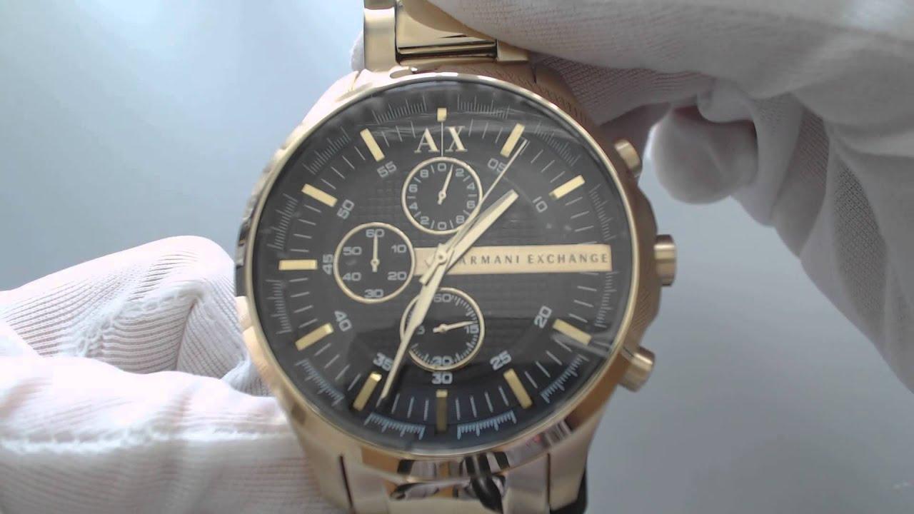 Men's Gold Armani Exchange Chronograph Watch AX2137