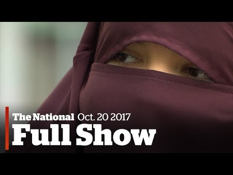 The National for Friday October 20th: Niqab protests, Downie brothers speak, mourning Fernie deaths