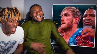KSI REACTS TO HIS PRO FIGHT VS LOGAN PAUL