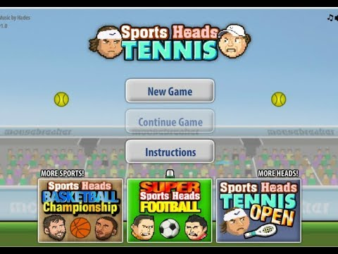094fb4261f402 Sports Heads Tennis Game 2!! - YouTube