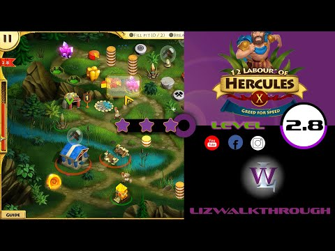 12 Labours of Hercules 10 - Level 2.8  walkthrough (Greed for Speed) |