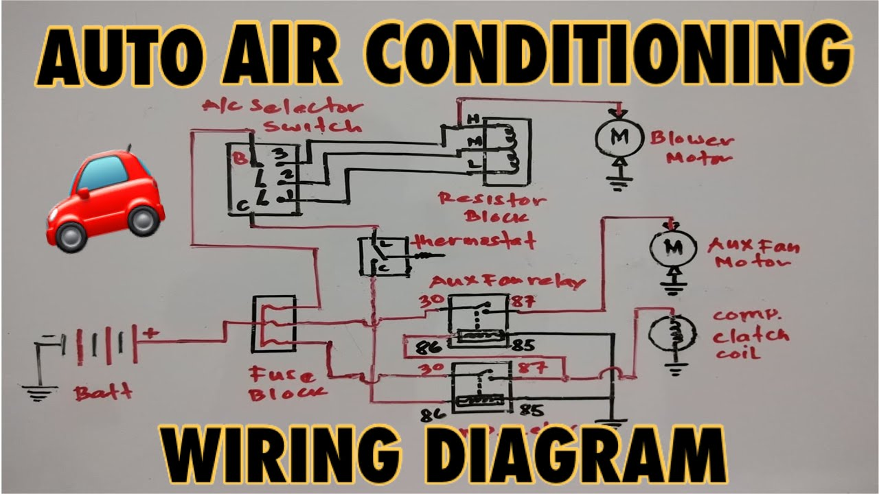 Basic Auto Air Conditioning Wiring Diagram - YouTubeYouTube