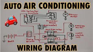 Basic Auto Air Conditioning Wiring Diagram - YouTubeYouTube