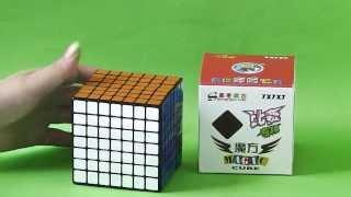 shengshou 7x7 7 5cm speed cube black magic puzzle unboxing review