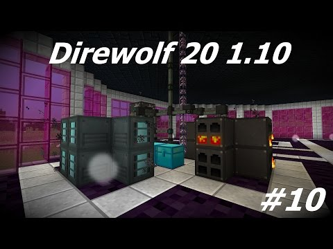 Direwolf 20 1.10 Let's Play Ep. 10: AE2 and Ore Processing