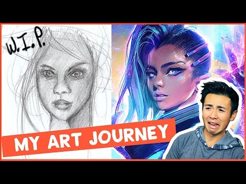 REACTING TO OLD ART!! (My Art Journey)