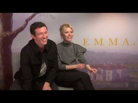 EMMA Interview Callum Turner & Mia Goth - New Movie - Love - KitKat Game - Making Of - Set Memories